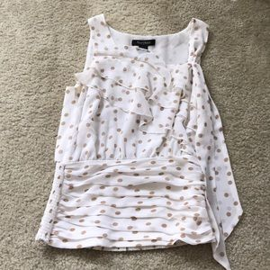 White House Black Market Womens Tank Top Dotted